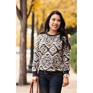 Forever 21 Angora Rabbit Hair Blend Aztec Sweater